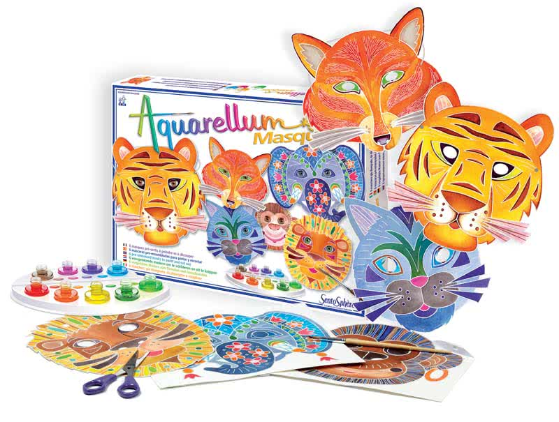 aquarellum maschere giochi creativi sentosphere