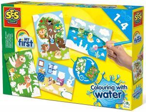 Colorare con l'acqua - Cerca gli animali nascosti