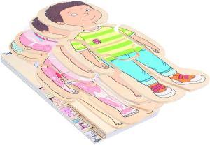 Puzzle in legno corpo umano - Bambino