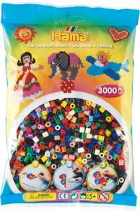 hama beads midi 3000 pezzi 22 colori