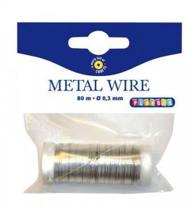 Filo di metallo argentato 0,3 mm