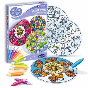 Kit Vitrail mandala giochi creativi Sentosphere
