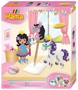Kit creativo cavalli e principesse Hama Beads Midi