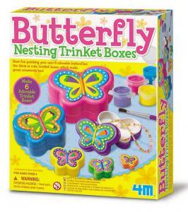 Crea portagioie a incastro farfalle