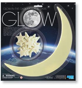 Luna e stelle fluorescenti