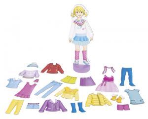 Bambina magnetica da vestire