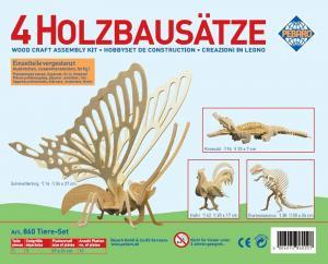 Puzzle 3D in legno Set animali