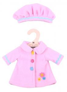 Vestito per bambole 34 cm - Cappotto e cappello rosa