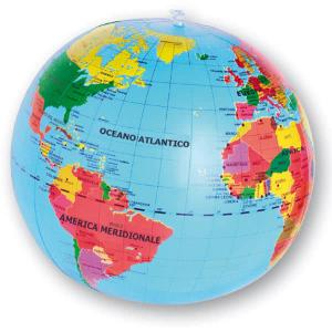 Mappamondo gonfiabile geografico