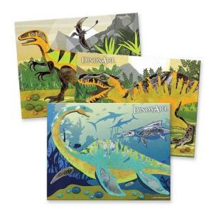 Kit quadri dinosauri con sabbia e alluminio