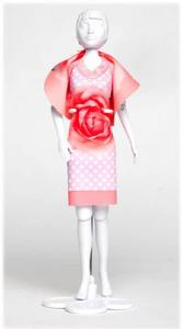 Dolly Pink Polka Dress your Doll