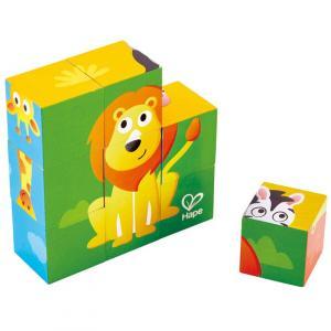 9 cubi in legno - Animali della giungla