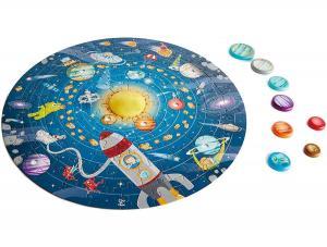 Puzzle del sistema solare con led