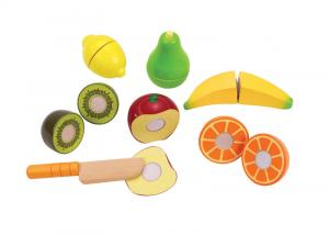 Frutta da tagliare in legno