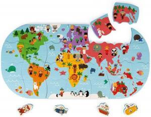 Gioco per il bagnetto puzzle del mondo
