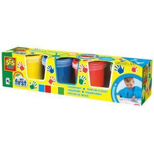 4 vasetti di colori a dita