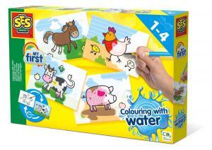 Colorare con l'acqua - Animali della fattoria ses creative