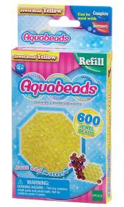 Ricarica Aquabeads - 600 Perline sfaccettate Gialle