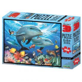 Puzzle 3D - Delfini 500 pezzi