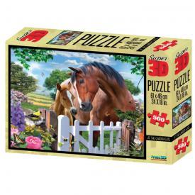 Puzzle 3D - Cavalli in giardino