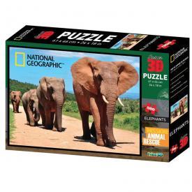 Puzzle 3D - Elefanti