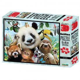 Puzzle 3D - Zoo selfie
