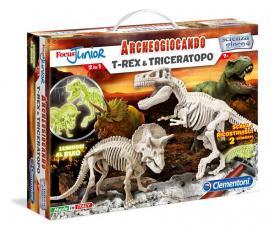 T-rex e triceratopo Clementoni