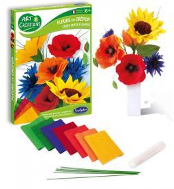 Crea fiori con carta crespa
