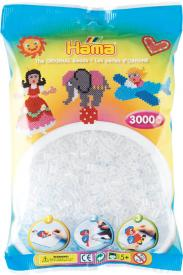 Hama Beads Midi 3000 pezzi - Trasparente n.19