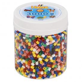 Barattolo Hama Beads Pyssla Midi 3000 perline (10 colori)