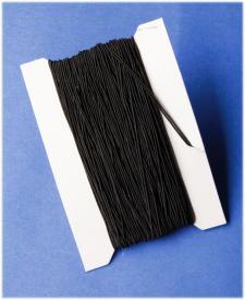 Cordoncino elasticizzato nero - 50 m