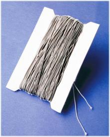 Cordoncino elasticizzato argento - 50 m