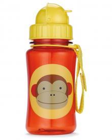 Bottiglia da viaggio con cannuccia motivo scimmia di Skip Hop