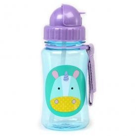 Bottiglia portatile con cannuccia - unicorno