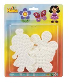 3 basi sagomate:farfalla, fiore e bambina