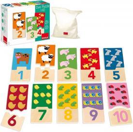 GU53329 Duo puzzle 1-10 - Giochi didattici Goula