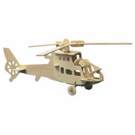 Puzzle 3D in legno Elicottero
