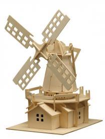 Puzzle 3D in legno Mulino a vento