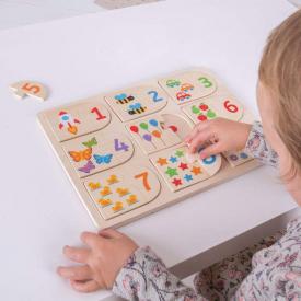Puzzle abbinamento immagini e numeri Bigjigs BJ535
