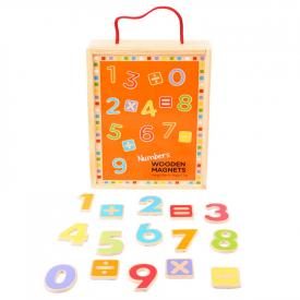 Numeri magnetici in legno