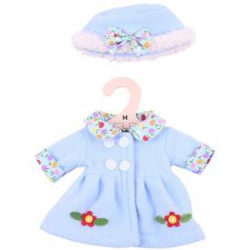 Vestito per bambole 34 cm - Cappotto e cappello celeste