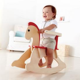 Cavallo a dondolo con protezione Hape