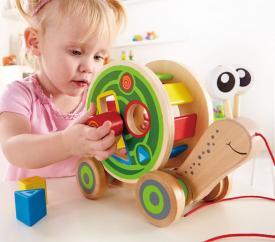 Ciocciola da tirare e ad incastro hape toys
