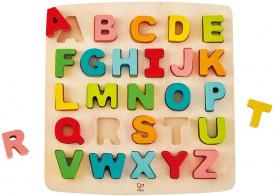 Puzzle alfabeto in legno