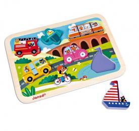 Puzzle veicoli Janod J07057