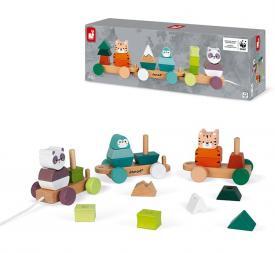 Trenino degli animali WWF - Giocattoli di legno FSC