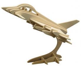 Puzzle 3D in legno Aereo di caccia