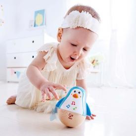 Pinguino in legno sempre in piedi - Giocattoli per neonati