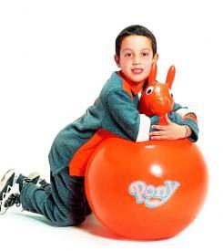 Pony arancione - pallone da saltare