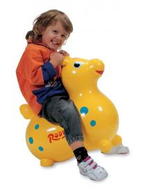 Cavallino gonfiabile Rody giallo